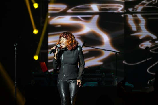 Michel'le hit the stage with the Ladies of Hip Hop
